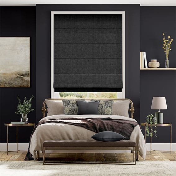 Black Roman Blinds Dark Dramatic Blinds 2go