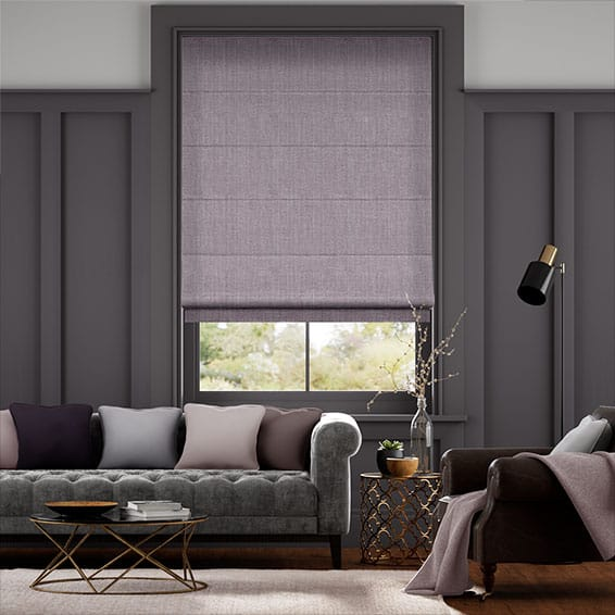Cavendish Heather Roman Blind