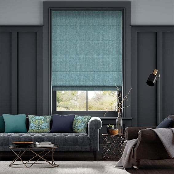 Cavendish Lagoon Blue Roman Blind