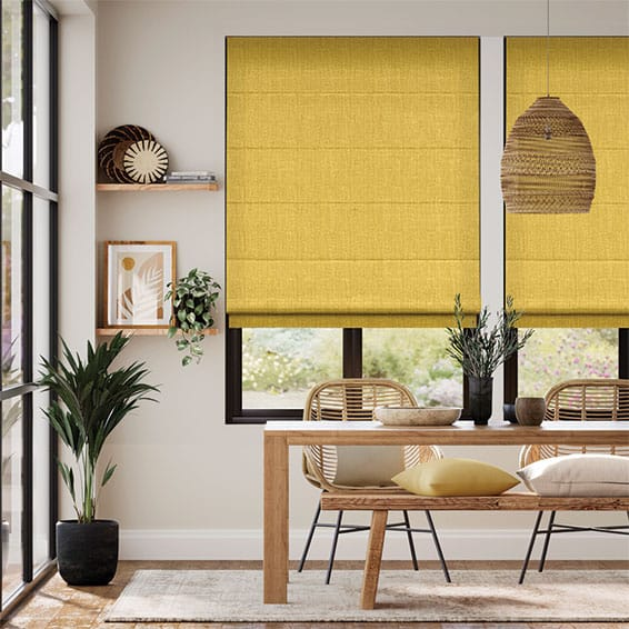 Cavendish Mimosa Gold Roman Blind