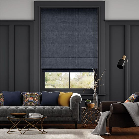 Cavendish Navy Roman Blind