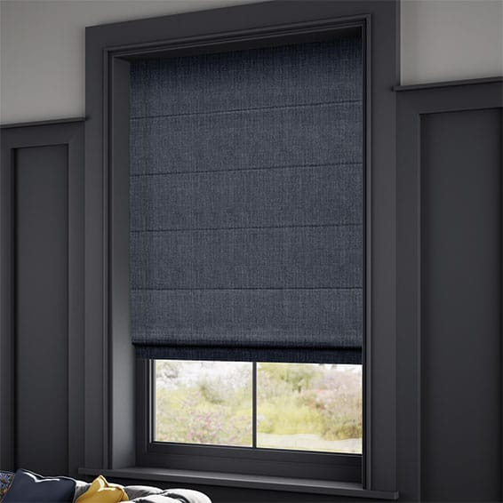 Navy Blue Roman Blinds Made To Measure For Your Home