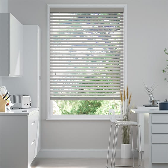 Cedar Grey Wooden Blind - 50mm Slat