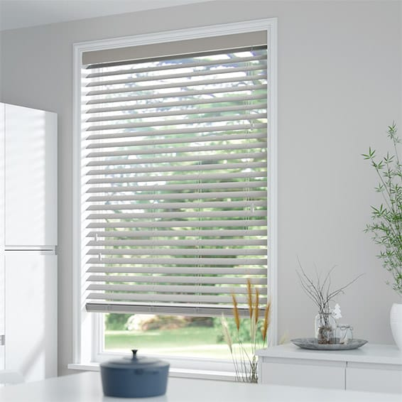Grey Wooden Blinds 50mm Faux Wood Blinds 2go