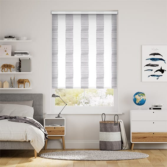 Splash Ceramic Stripe Clay Grey Roller Blind