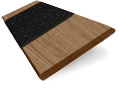 Chestnut & Jet Faux Wood Blind - 50mm Slat slat image
