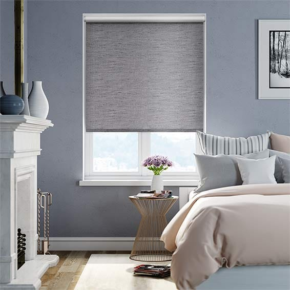 Choices Ahisma Luxe Faux Silk Warm Grey Blackout Roller Blind