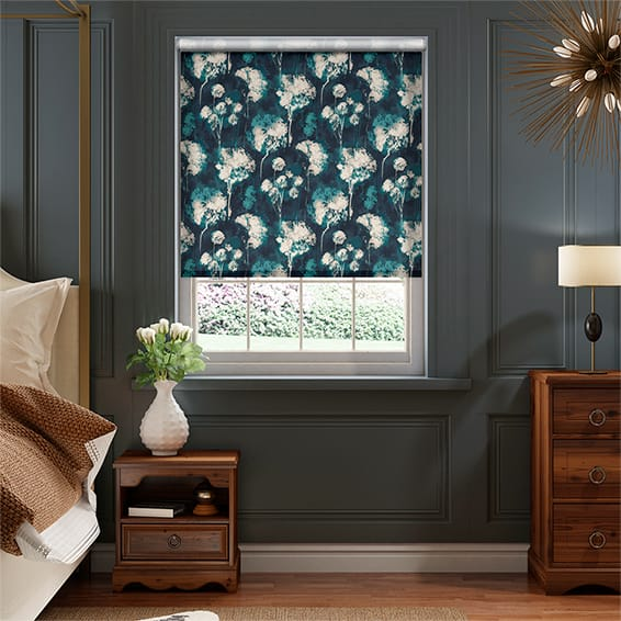 Choices Allium Linen Indigo Roller Blind