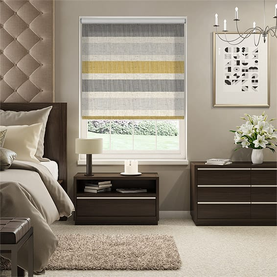 Choices Cardigan Stripe Linen Flax Grey Roller Blind