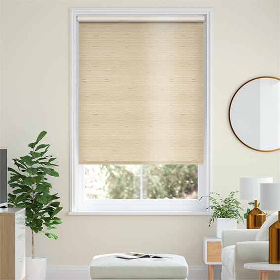 Choices Dupioni Faux Silk Flax Blackout Roller Blind