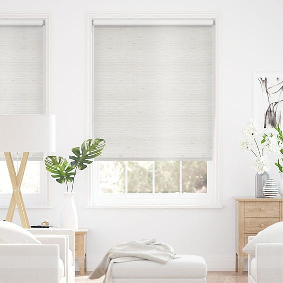 Choices Dupioni Faux Silk Pearl Blackout Roller Blind