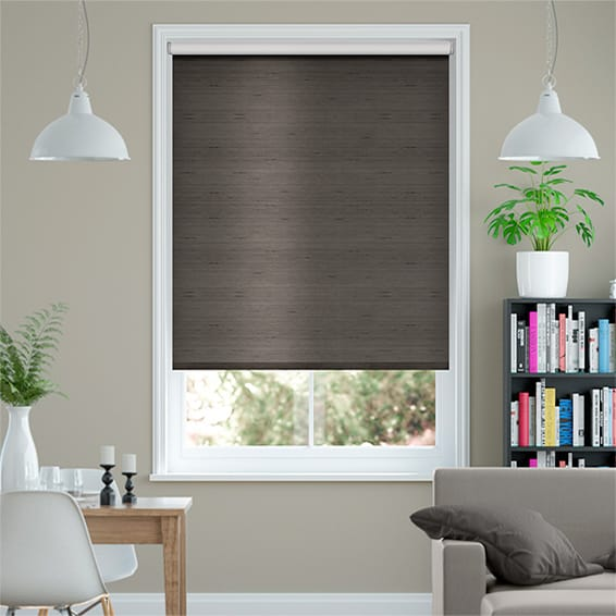 Choices Dupioni Faux Silk Shimmering Grey Blackout Roller Blind