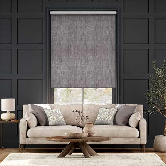 Electric Thermal Luxe Dimout Cinder Roller Blind