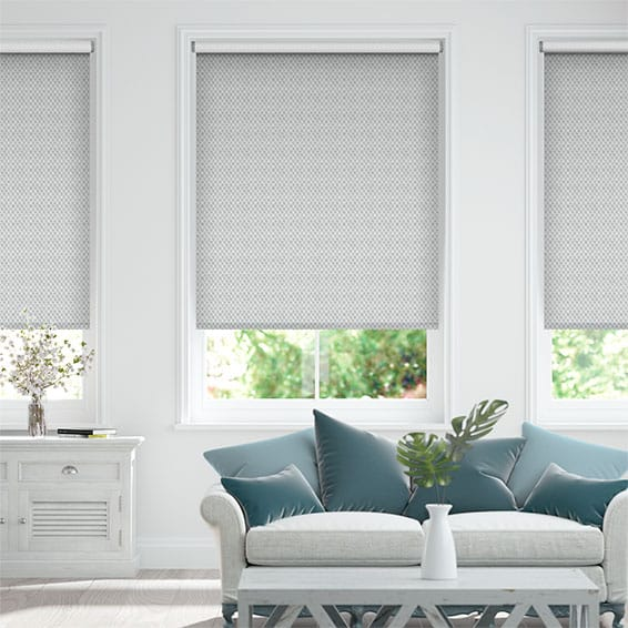 Choices Filigree Misty Blue Roller Blind