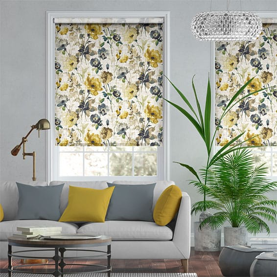 Choices Fiori Linen Daffodil Roller Blind