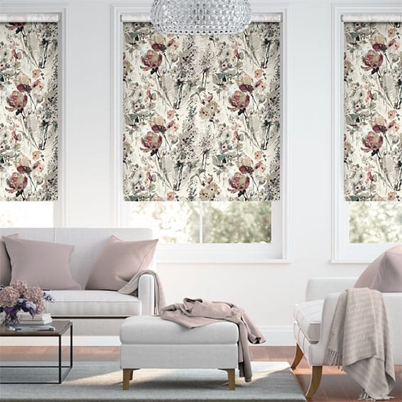 Choices Foxglove Linen Rose Blush Roller Blind