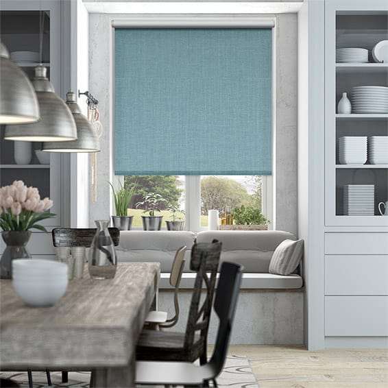 Choices Harrow Lagoon Blue Roller Blind