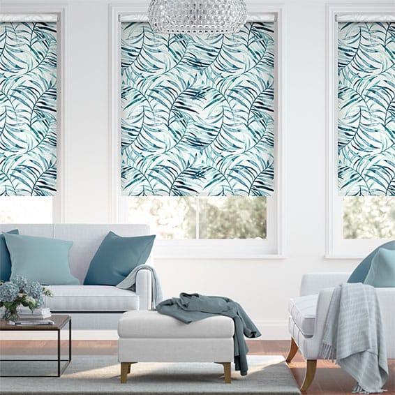 Choices Kentia Linen Azure Roller Blind