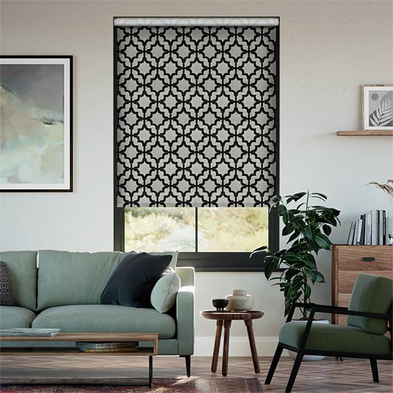 Choices Lattice Black Roller Blind