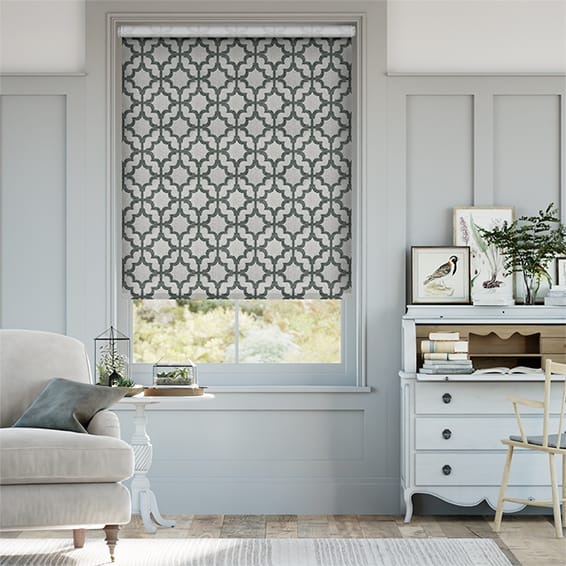 Choices Lattice Charcoal Roller Blind