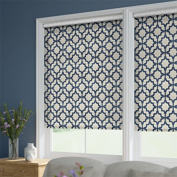 Choices Lattice Navy Blue Roller Blind