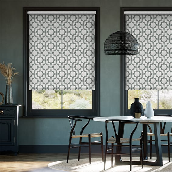 Choices Lattice Silver Roller Blind