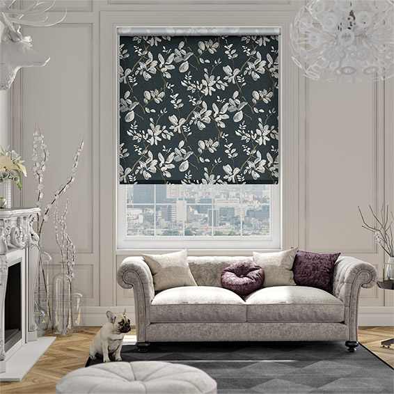 Choices Madelyn Linen Onyx Roller Blind