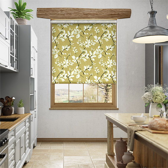 Choices Madelyn Linen Sunset Gold Roller Blind