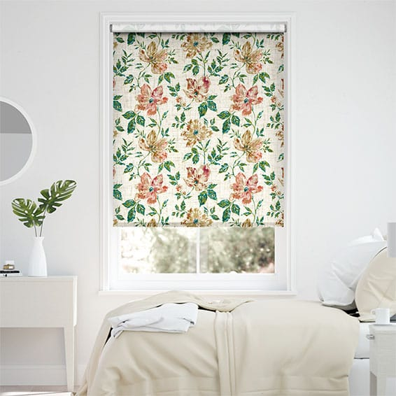 Choices Painterly Floral Vintage Tea Rose Roller Blind