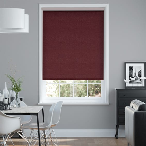 Choices Paleo Linen Ruby Red  Roller Blind