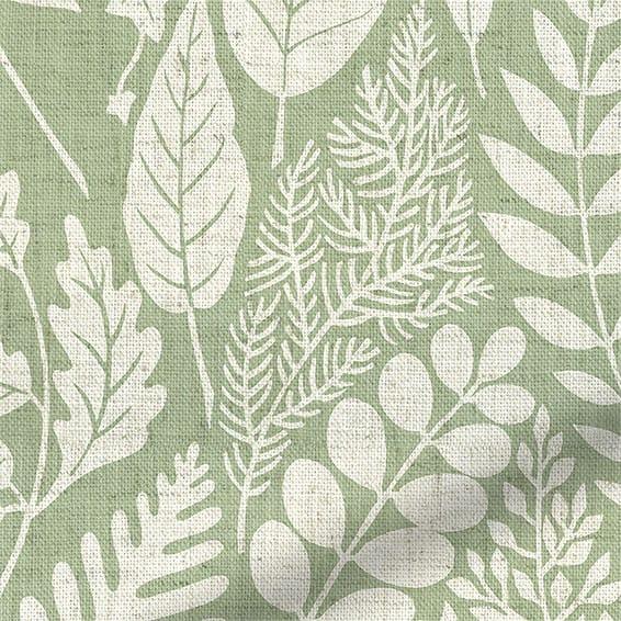 Choices Scandi Ferns Vintage Linen Sage Roller Blind