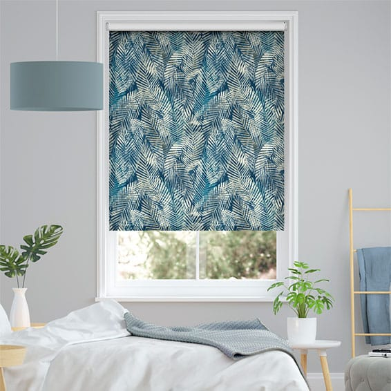 Choices Shadow Leaf Linen Admiral Roller Blind