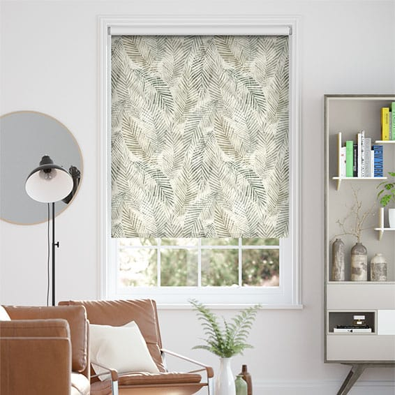 Choices Shadow Leaf Linen Fawn Roller Blind