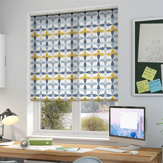 Circus Leaves Blue Roller Blind