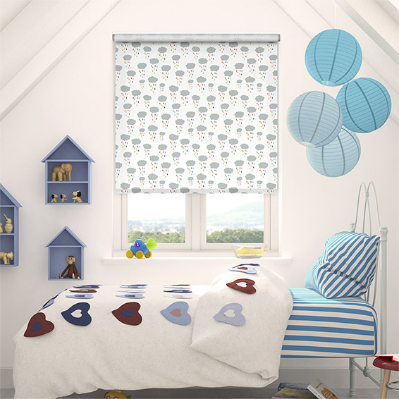 Cloud Burst Rainbow Blackout Roller Blind