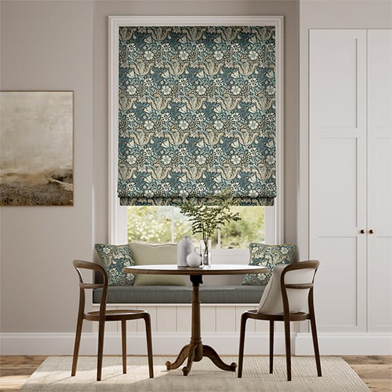 William Morris Compton Midnight Roman Blind