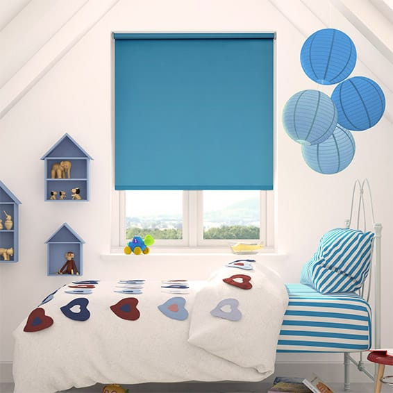 Cordoba Fantasy Blue Blackout Roller Blind