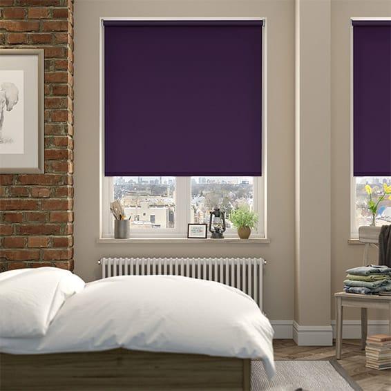 Cordoba Purple Blackout Roller Blind