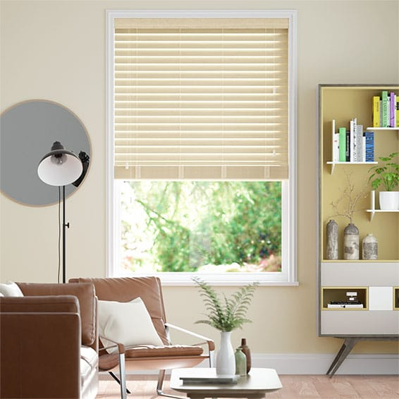 Cosmopolitan French Cream Wooden Blind - 50mm Slat