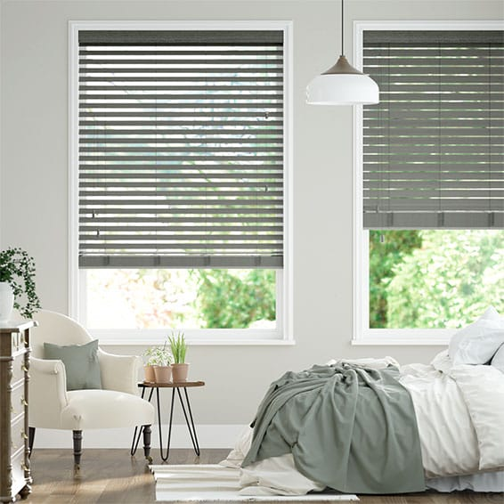 Cosmopolitan Storm Cloud Wooden Blind - 50mm Slat