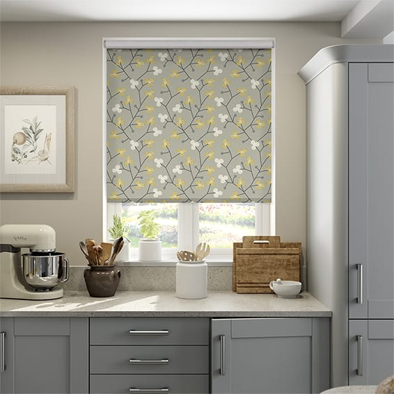 Country Blossom Ashen Gold Roller Blind