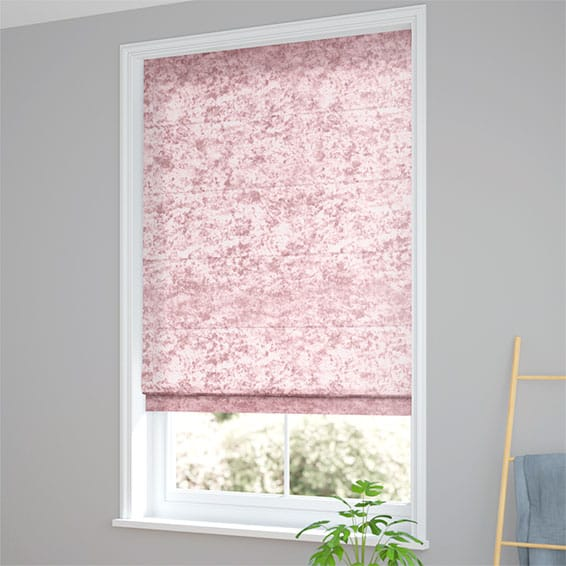 Crushed Velvet Roman Blinds Beautiful Pink Silver Gold