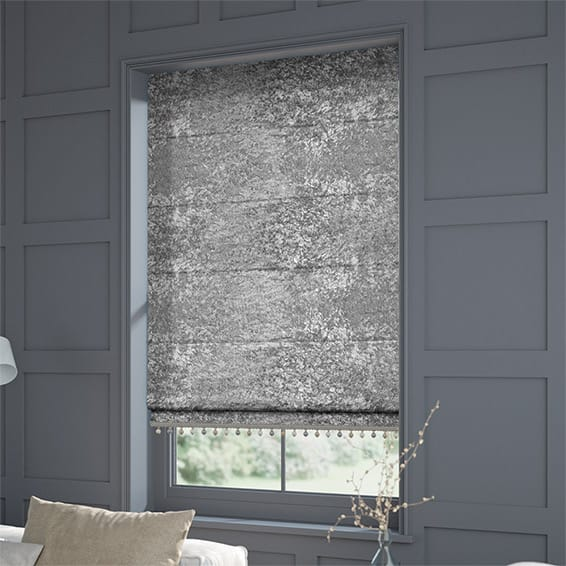 Crushed Velvet Roman Blinds Made To Measure Blinds With
