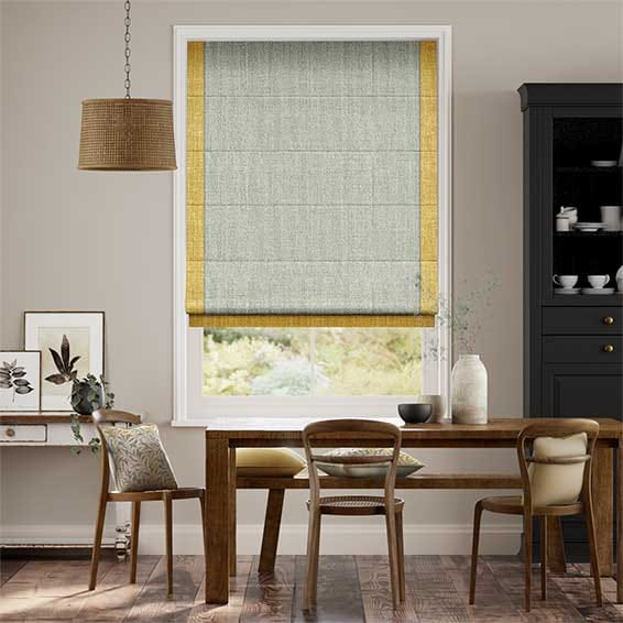 Dakota Linen Desert Gold Roman Blind