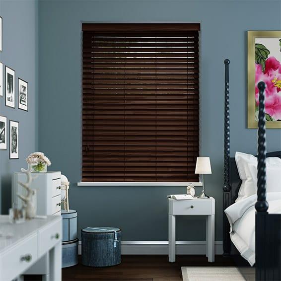dark mahogany furniture. Dark Mahogany Faux Wood Blind - 50mm Slat Furniture G