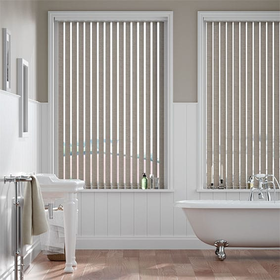 Dartford Warm Grey Vertical Blind