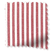 Devon Stripe Red Roman Blind slat image