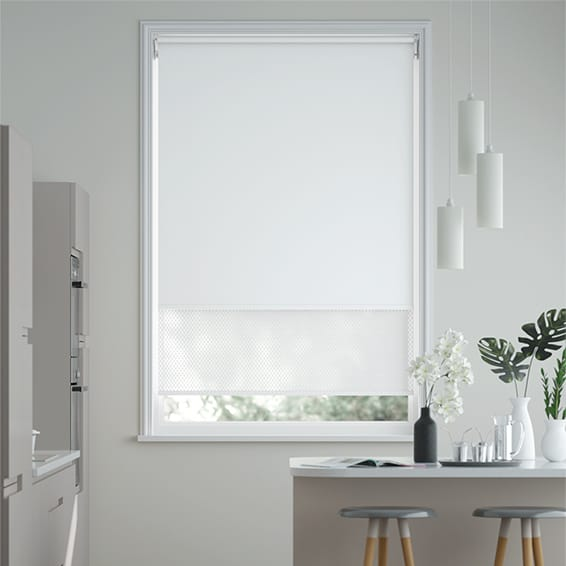 Double Roller Brilliant White Roller Blind