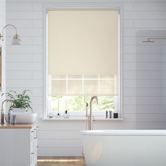Double Roller French Cream Roller Blind