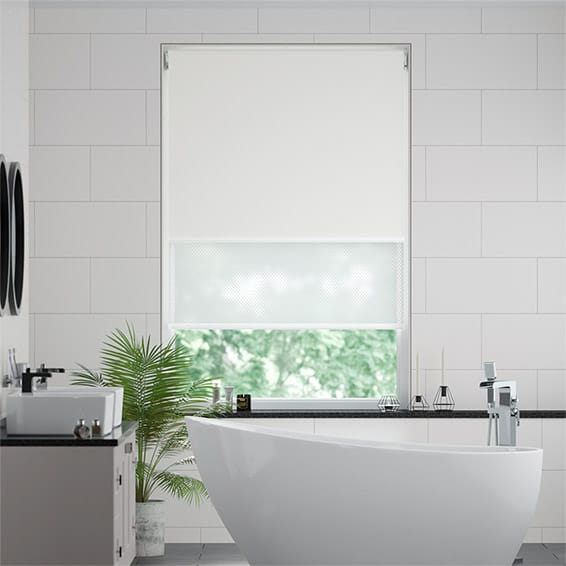 Double Roller Milk White Blind